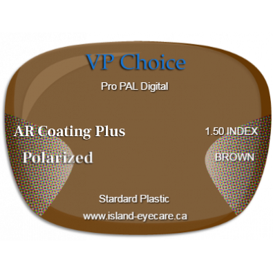 VP Choice Pro PAL Digital 1.50 AR Coating Plus Polarized - Brown