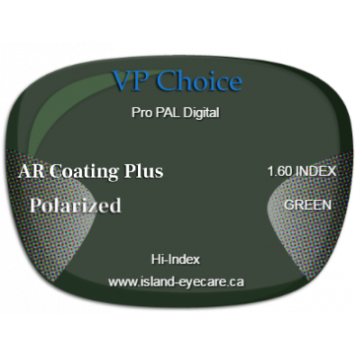 VP Choice Pro PAL Digital 1.60 AR Coating Plus Polarized - Green