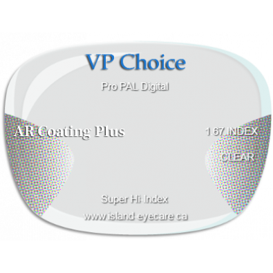 VP Choice Pro PAL Digital 1.67 AR Coating Plus