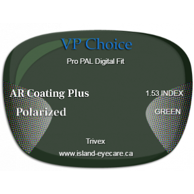 VP Choice Pro PAL Digital Fit Trivex AR Coating Plus Polarized - Green