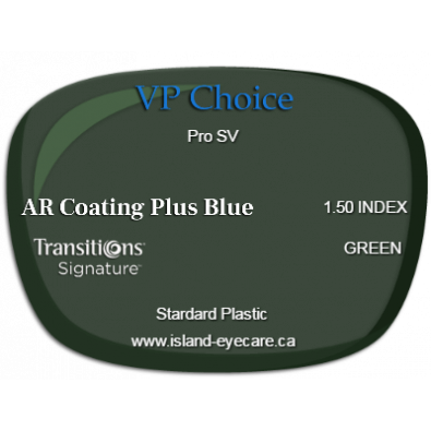 VP Choice Pro SV 1.50 AR Coating Plus Blue Transitions Signature - Green