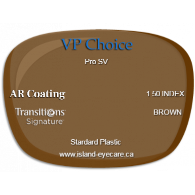 VP Choice Pro SV 1.50 AR Coating Transitions Signature - Brown