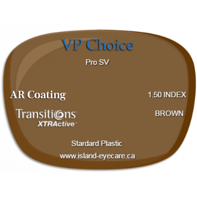 VP Choice Pro SV 1.50 AR Coating Transitions XTRActive - Brown