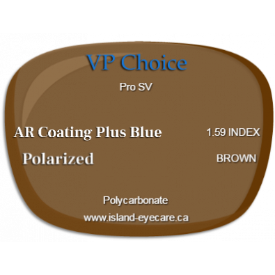VP Choice Pro SV 1.59 AR Coating Plus Blue Polarized - Brown