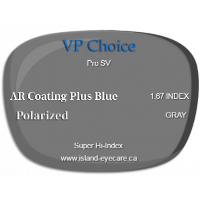 VP Choice Pro SV 1.67 AR Coating Plus Blue Polarized - Gray