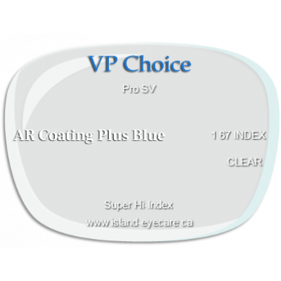 VP Choice Pro SV 1.67 AR Coating Plus Blue