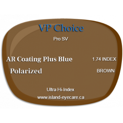 VP Choice Pro SV 1.74 AR Coating Plus Blue Polarized - Brown