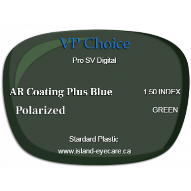 VP Choice Pro SV Digital 1.50 AR Coating Plus Blue Polarized - Green