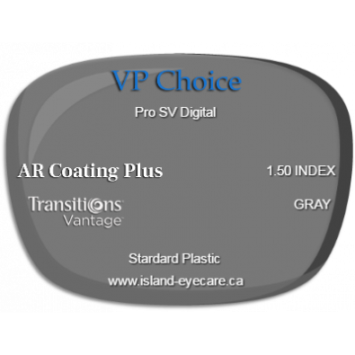 VP Choice Pro SV Digital 1.50 AR Coating Plus Transitions Vantage - Gray