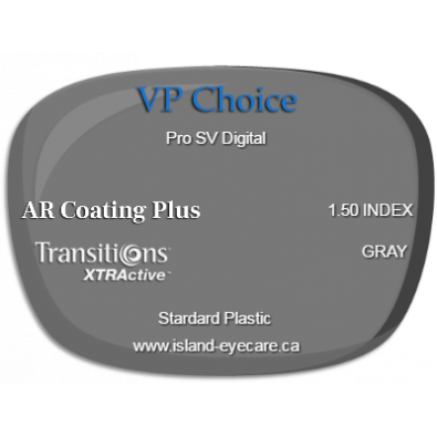 VP Choice Pro SV Digital 1.50 AR Coating Plus Transitions XTRActive - Gray