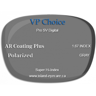 VP Choice Pro SV Digital 1.67 AR Coating Plus Polarized - Gray