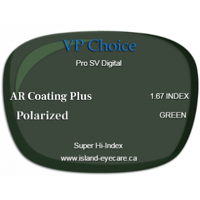 VP Choice Pro SV Digital 1.67 AR Coating Plus Polarized - Green