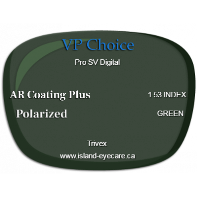 VP Choice Pro SV Digital Trivex AR Coating Plus Polarized - Green