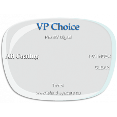 VP Choice Pro SV Digital Trivex AR Coating