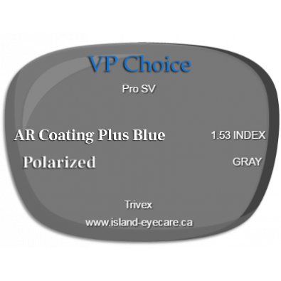 VP Choice Pro SV Trivex AR Coating Plus Blue Polarized - Gray