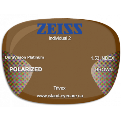 Zeiss Individual 2 Trivex DuraVision Platinum Zeiss Polarized - Brown