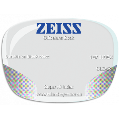 Zeiss Officelens Book 1.67 DuraVision BlueProtect