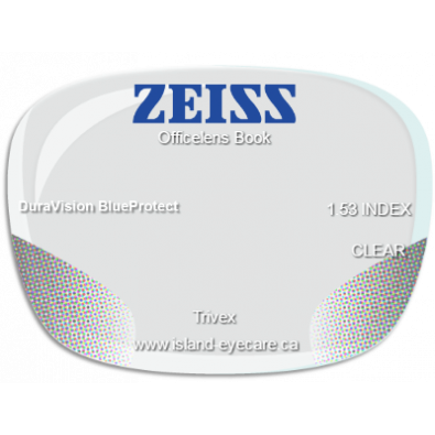 Zeiss Officelens Book Trivex DuraVision BlueProtect