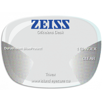 Zeiss Officelens Desk Trivex DuraVision BlueProtect