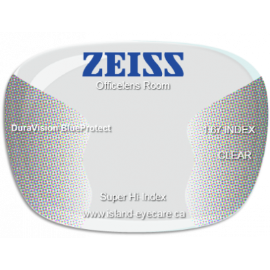 Zeiss Officelens Room 1.67 DuraVision BlueProtect