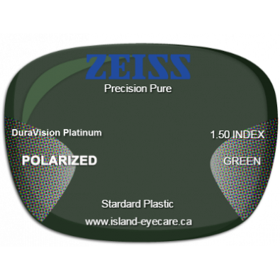 Zeiss Precision Pure 1.50 DuraVision Platinum Zeiss Polarized - Green