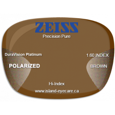 Zeiss Precision Pure 1.60 DuraVision Platinum Zeiss Polarized - Brown