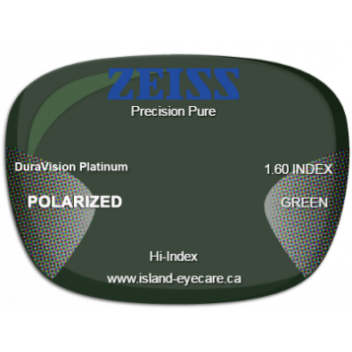 Zeiss Precision Pure 1.60 DuraVision Platinum Zeiss Polarized - Green