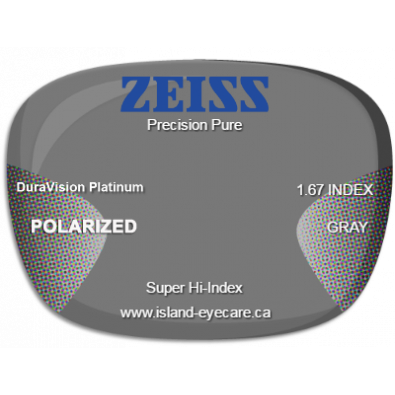 Zeiss Precision Pure 1.67 DuraVision Platinum Zeiss Polarized - Gray