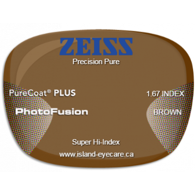 Zeiss Precision Pure 1.67 PureCoat PLUS Photofusion - Brown