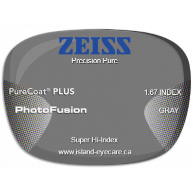 Zeiss Precision Pure 1.67 PureCoat PLUS Photofusion - Gray