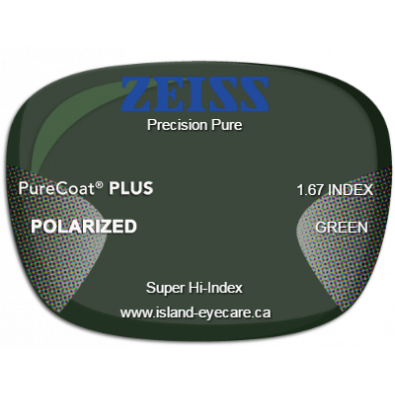 Zeiss Precision Pure 1.67 PureCoat PLUS Zeiss Polarized - Green
