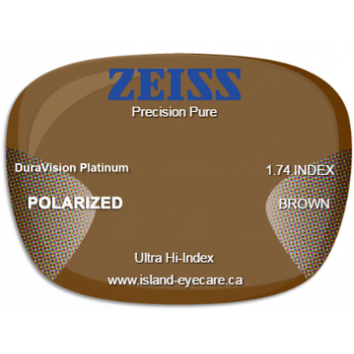 Zeiss Precision Pure 1.74 DuraVision Platinum Zeiss Polarized - Brown