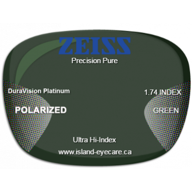 Zeiss Precision Pure 1.74 DuraVision Platinum Zeiss Polarized - Green