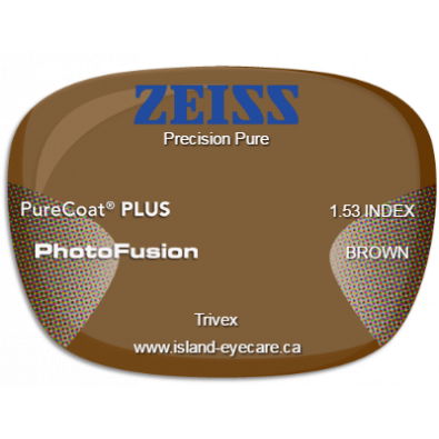 Zeiss Precision Pure Trivex PureCoat PLUS Photofusion - Brown