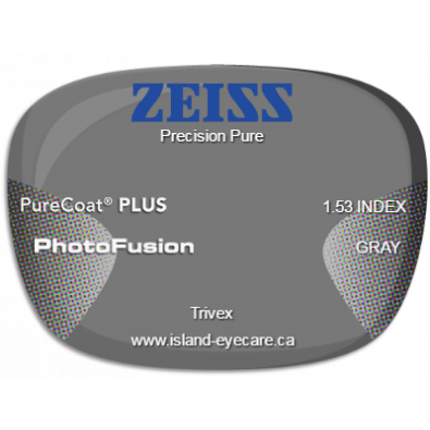 Zeiss Precision Pure Trivex PureCoat PLUS Photofusion - Gray