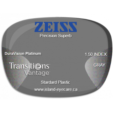 Zeiss Precision Superb 1.50 DuraVision Platinum Transitions Vantage - Gray