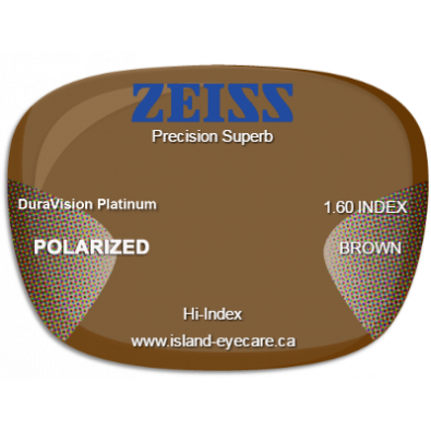 Zeiss Precision Superb 1.60 DuraVision Platinum Zeiss Polarized - Brown