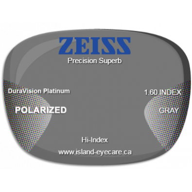 Zeiss Precision Superb 1.60 DuraVision Platinum Zeiss Polarized - Gray