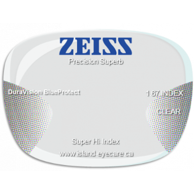 Zeiss Precision Superb 1.67 DuraVision BlueProtect