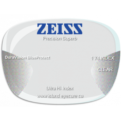 Zeiss Precision Superb 1.74 DuraVision BlueProtect