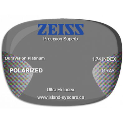 Zeiss Precision Superb 1.74 DuraVision Platinum Zeiss Polarized - Gray