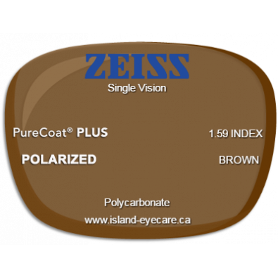 Zeiss Single Vision 1.59 PureCoat PLUS Zeiss Polarized - Brown