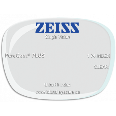 Zeiss Single Vision 1.74 PureCoat PLUS
