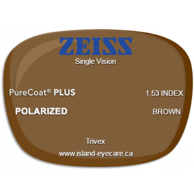 Zeiss Single Vision Trivex PureCoat PLUS Zeiss Polarized - Brown